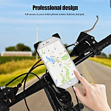 360˚ Rotation Universal Bicycle Bike Phone Holder Motorbike Handlebar Mount Holder Black
