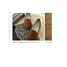 Ladies Flat shoes Ballerina Ballet -Brown