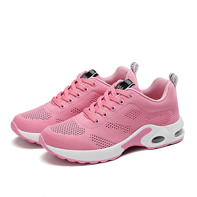 Women Outdoor Sport Breathable Mesh Casual Height Increasing Shock  Absorbing Running Shoes Sneakers 91e38bb6f