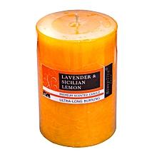 Scented Pillar Candle - 10cm - Medium Orange