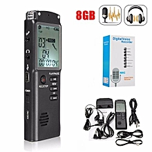 8GB Rechargeable USB LCD Digital   Audio Voice Recorder Dictaphone MP3 Player