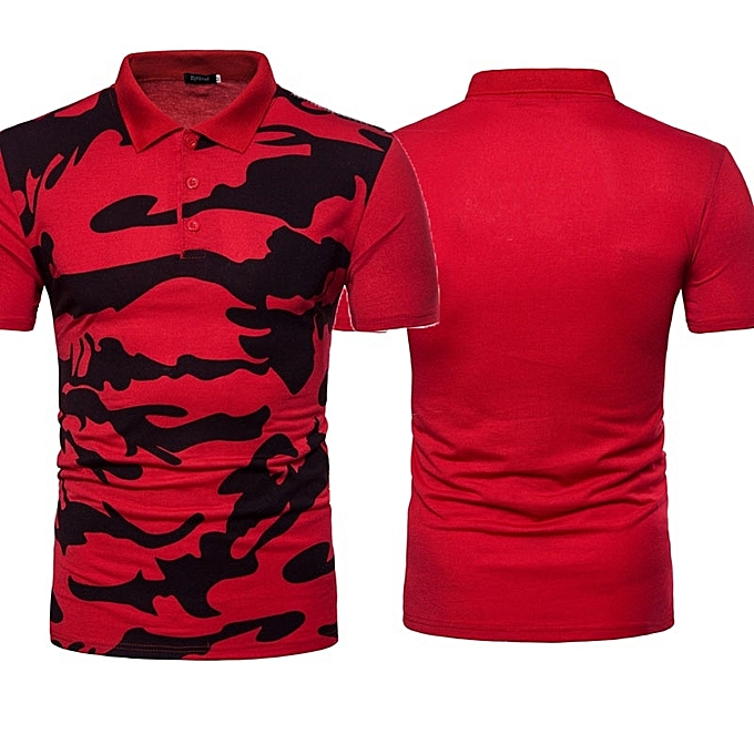 ad892d38b210 Buy Generic Men Summer Camo Leisure Lapel Short Sleeve Polo Shirt ...