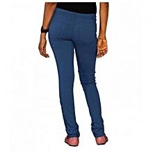 Stretchy Skinny Jeans in French Blue