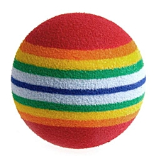 1Pcs Super Cute Rainbow Toy Ball Small Dog Cat Pet Eva Toys Golf Practice Balls MAR