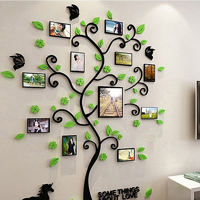 Buy Generic Home 3d Acrylic Photo Frame Tree Wall Sticker Living