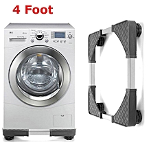 Adjustable Washing Machine Base Refrigerator Undercarriage Bracket Stand (Four Foot)