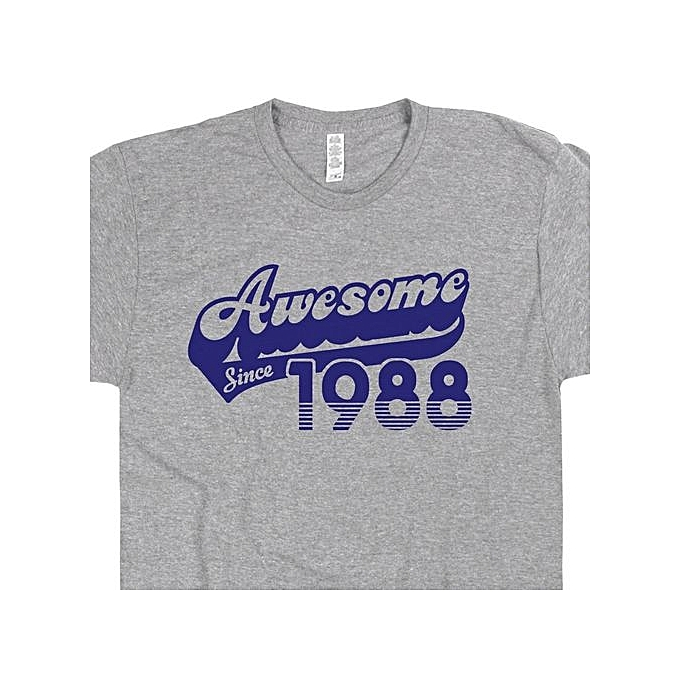 Awesome Since 1988 T Shirt Funny 30th Birthday Gift For Mens Vintage Tee