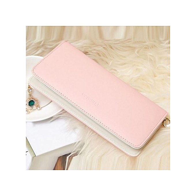 cb6140238ab Women's Purse 2019 Women Wallets Long Bifold Leather Wallet Women Card  Holder Wallets Carteras Mujer Ladies Purse Sacoche Homme Pink