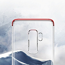Luxury Shockproof Transparent Phone Case for Samsung Galaxy S9 Plus - Transparent Red