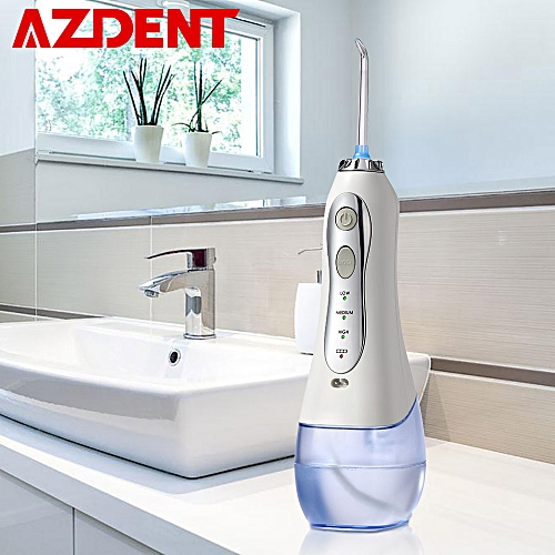 New 3 Modes Cordless Oral Irrigator Portable Water Dental Flosser USB  Rechargeable Water Jet Floss Tooth Pick 5 Jet Tips 300ml( )