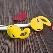 Olivaren Earphone Cover Tips Hook For Airpods Anti-Slip Soft Silicone YE -Yellow