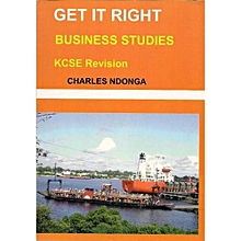 Get It Right KCSE Revision Business Education