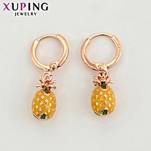 XUPING fashion Crystal  Earrings-Rose Gold