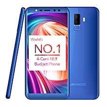 LEAGOO M9, 2GB+16GB, Dual Back Cameras + Dual Front Cameras, Fingerprint Identification, 5.5 inch LEAGOO OS 3.0 (Android 7.0) MTK6580A Quad Core up to 1.3GHz, Network: 3G, Dual SIM(Blue)