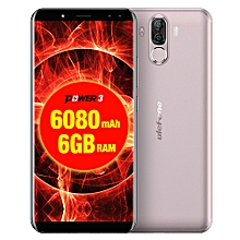 Ulefone Power 3,  6GB+64GB, Dual Back Cameras + Dual Front Cameras, 6080mah Big Battery, Face & Fingerprint Identification, 6.0 inch Android 7.1 MTK6763 Octa-core up to 2.0GHz, Network: 4G,  OTG,  Dual SIM(Gold)
