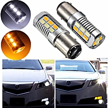 1PC 1157 BAY15D 5630 LED 22SMD Auto Car Dual Color Switchback Turn Signal Light Bulb Lamp DRL Led Daytime Running Light