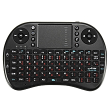 Ipazzport I8 2.4G Wireless German Version Rechargeable Mini Keyboard Touchpad Air Mouse