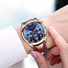 Relojes Hombre 2018 New LIGE Luxury Brand Men Leather Sport Watches Men's Army Military Watch Man Quartz Clock Relogio Masculino 9852