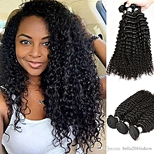 Elegant Human Hair Kenya Kinky Curly 3 in 1 bundles (same inches) Peruvian 100% Human Hair Pack( GRADE 10A)