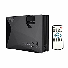 UC46+ LED Projector 800 * 480 Pixel 1200 Lumens 800 : 1 Contrast Ratio DLNA Miracast AirPlay WiFi Display USB VGA Input Home Theater for Home Business Use Black US Plug