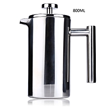 Cafetiere French Press With Filter Double Wall - Silver