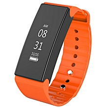 D1 Smart SPORTS BRACELET Waterproof Pedometer Health Information Reminder orange
