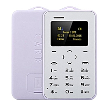 AIEK C6 Ultra Thin Mini Bluetooth GSM Candy Color Credit Card Mobile Phone Purple