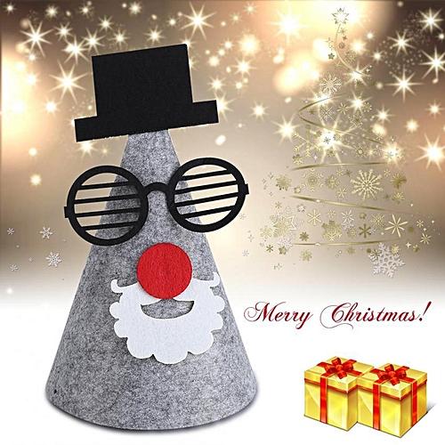 Generic Cute Unisex Non-woven Christmas Hat Adult Children Cap Festival  Party Decoration c6a077718b89