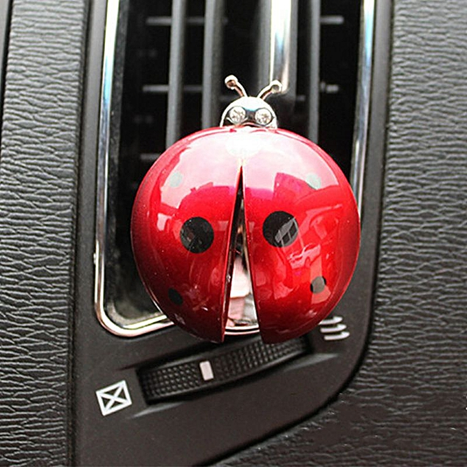 Automobiles & Motorcycles Car Ornament Abs Ladybug Decoration Perfume Clip Air Purifier Cute Automobiles Interior Fragrance Essential Oil Diffuser Gifts