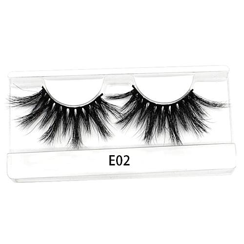 3488c9147de Generic 25mm Long 3D mink lashes extra length mink eyelashes Big dramatic  25mm Mink Lashes 100% Cruelty free Handmade fake lashes(E02)