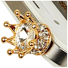 1 pcs Big Luxury Diamond Crown Plug Dust Cap Cover Port 3.5MM(White)