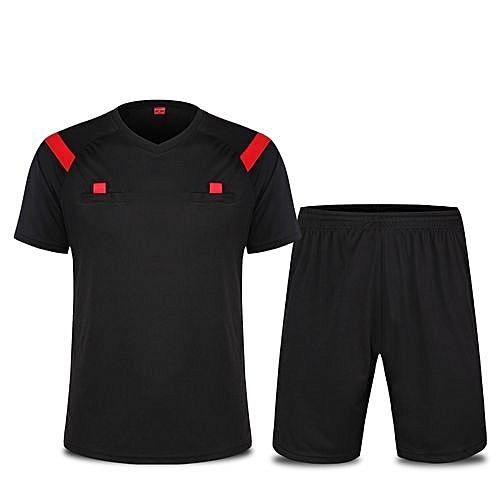 a4a130b11dd Longo Men s Football Soccer Sports Goalkeeper Jersey Short Sleeves Shirts  With Shorts-Black(2209)
