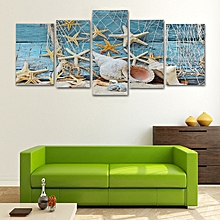 5Pcs Set Conch Fishing Starfish Canvas Wall Painting Waterproof Pictures Decor