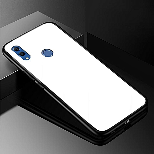 Glass Case For Honor 8X Case Full Protection Tempered Glass Back Cover For  Huawei Honor 8 X Housing 114037 (White)