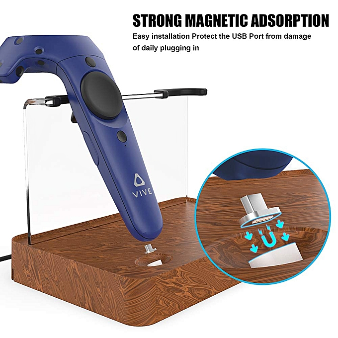 Dual Charger Magnetic Charging Station/Stand,Support Firmware Upgrade For  HTC VIVE Controller