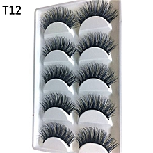 Luxury 3D False Lashes Fluffy Strip Eyelashes Long Natural Party-Black