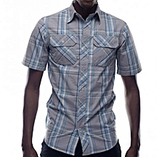 Grey Checked Men's Shirt