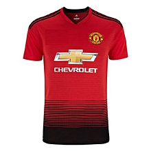 The New Manchester United 2018/2019 REPLICA Home Kit Football Jersey Shirt Red.