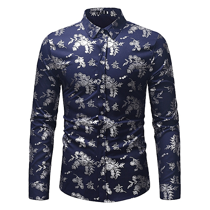 9a65c3912a594 AFankara Designer Casual Shirts for Men - Navy Blue   Best Price ...
