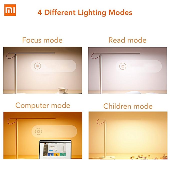 Xiaomi Mijia Mi Smart LED Desk Lamp Table Lamp Dimming Reading Light WiFi  Enabled Work with Alexa Mi Home APP 100-240V(White)