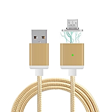 Micro USB Magnetic Data Cable Charger - Gold