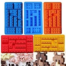 Rectangular Lego Brick Blocks Shape Silicone Ice Cube Mould - Random Color