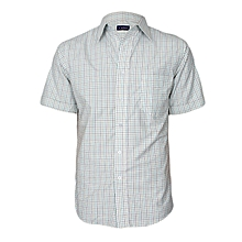 White Multicoloured Checked Short Sleeved Shirt