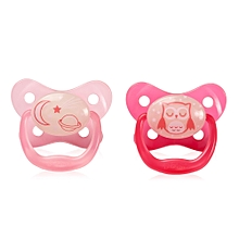 PreVent Glow in the Dark Butterfly Shield Pacifier Stage 2 (6-12m) - Pink