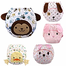Elegant Set of 5 Animal Series Training Pants Kids Potty Cloth Diaper Soft Kids Nappies