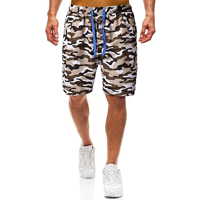 c24b151ce5 Street Shorts Men Casual Shorts Outfit Camo Pants Sporty Shorts New - Khaki