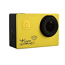 "SJ8000 Waterproof 4K Ultra HD 1080P WiFi Sports Action Camera 2"" DVR Camcorder Yellow"