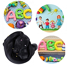 DIY Fluffy Slime Stress Relief Plasticine Clay Mud Anxiety Reducer Toy For Child Adults(Black)