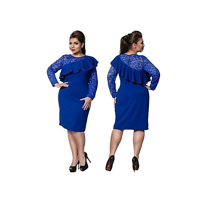 60bb7d5a932 Beauty Large Size Ladies Dress Big Size Casual Lace Office Dress Straight Dresses  Plus Size Women
