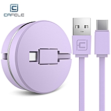 CAFELE Circular Cover Stretchable Type-C Data Charging Cable 1M PURPLE